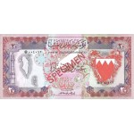 1978 -Bahrain PIC 10s   20 Dinars banknote Specimen