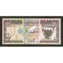 1973 -Bahrain PIC 7   1/2 Dinar banknote