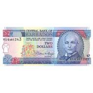 1993 - Barbados P42 2 Dollars banknote