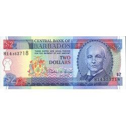 1995 - Barbados P46  2 Dollars banknote