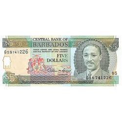 1996 - Barbados P47 5 Dollars banknote