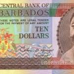 1995 - Barbados P48 10 Dollars banknote