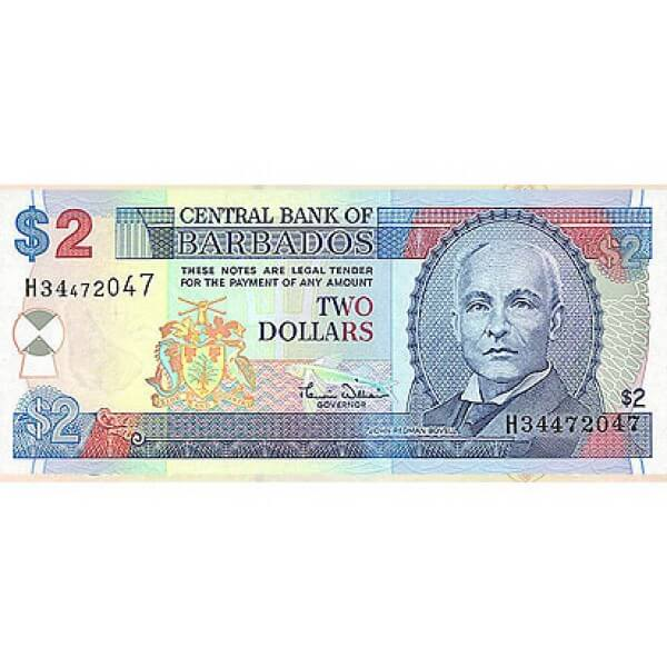 2000 - Barbados P60 billete de  2 Dólares