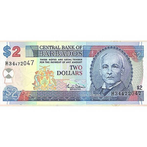 2000 - Barbados P60 2 Dollars banknote