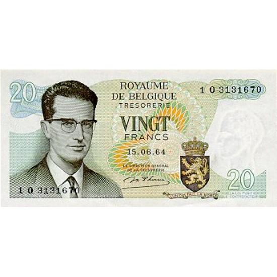 1964 - Belgium P138 20 Francs Banknote