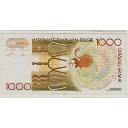 1989 - Belgium P144a 1,000 Francs Banknote