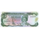 1987 - Belize P46c  1 Dollar banknote