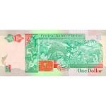 1990 - Belize P51 1 Dollar  banknote