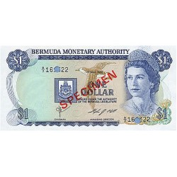 1984 -  Bermuda P28bs 1 Dollar banknote Specimen