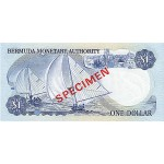 1984 - Bermuda P28bs billete de 1 Dólar Specimen