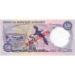 1978 - Bermuda P30as billete de 10 Dólares Specimen