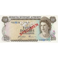 1978 - Bermuda P32bs 50 Dollars banknote Specimen