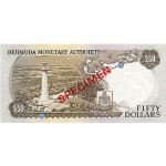 1978 - Bermuda P32bs billete de 50 Dólares Specimen