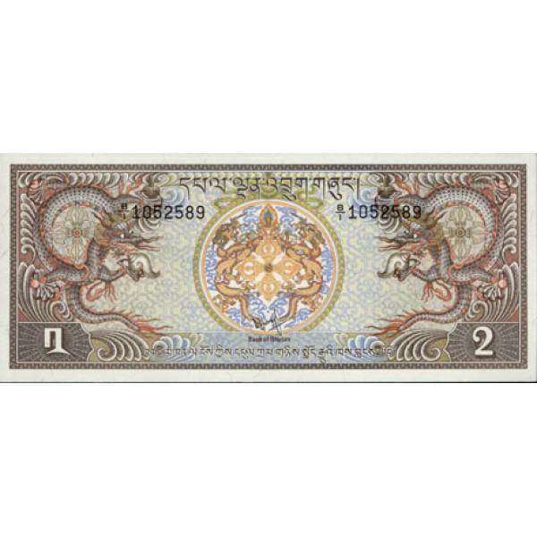 1981 - Bhutan  pic 6  billete de 2 Ngultrum