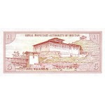 1985- Bhutan  pic 14a  billete de 5 Ngultrum