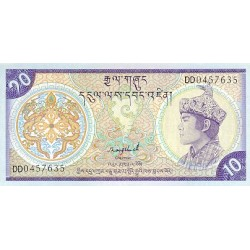1992 - Bhutan PIC15b     10 Ngultrum  banknote
