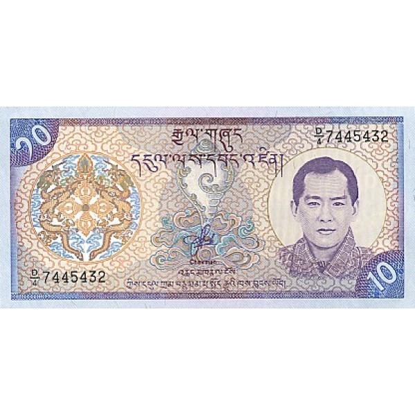 2000 - Bhutan PIC22     10 Ngultrum  banknote