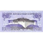 2006- Bhutan PIC 27     1 Ngultrum  banknote
