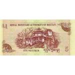 2006- Bhutan PIC 28     5 Ngultrum  banknote