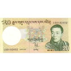 2006- Bhutan PIC 30a     20 Ngultrum  banknote