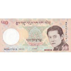 2006- Bhutan PIC 31b     50 Ngultrum  banknote
