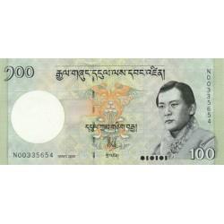 2006- Bhutan PIC 32a     100 Ngultrum  banknote