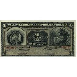 1902 - Bolivia P92 1 Boliviano banknote