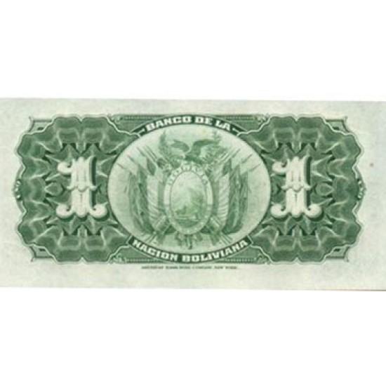 1929 - Bolivia P112 1 Boliviano banknote