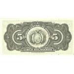 1928 - Bolivia P120 billete de 5 Bolivianos