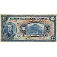 1928 - Bolivia P121 10 Bolivianos banknote