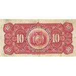 1928 - Bolivia P121 billete de 10 Bolivianos