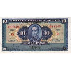 1928 - Bolivia P130 10 Bolivianos  banknote