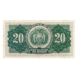1928 - Bolivia P131 20 Bolivianos banknote