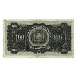 1928 - Bolivia P133 100 Bolivianos  banknote
