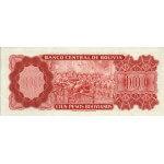 1962 - Bolivia P157 billete de 100 Bolivianos
