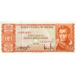 1962 - Bolivia P162a 50 Bolivianos  banknote