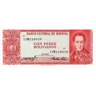 1983 - Bolivia P164a 100 Pesos Bolivianos  banknote