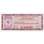 1985 - Bolivia P194 10 Million Pesos Bolivianos  banknote