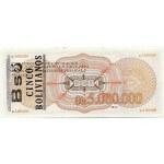 1987 - Bolivia P200 billete de 5 Bolivianos en 5 Millones de Pesos