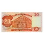 1997 - Bolivia P205c billete de 20 Bolivianos
