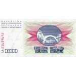 1992 - Bosnia Herzegovina PIC 15a   1.000 Dinara banknote