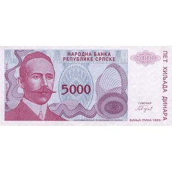 1993 - Bosnia Herzegovina PIC 149    5.000 Dinara banknote
