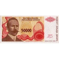 1993 - Bosnia Herzegovina PIC 150    50.000 Dinara banknote