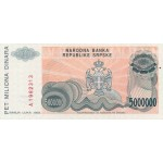 1993 - Bosnia Herzegovina PIC 153   5.000.000 Dinara banknote