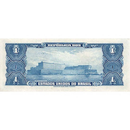 1944 - Brazil P132 1 Cruceiro  banknote
