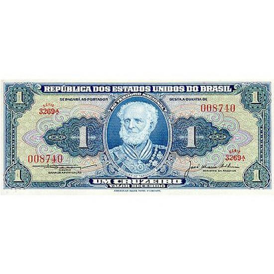 1958 - Brazil P150d 1 Cruceiro banknote