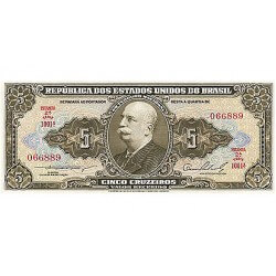 1959 - Brazil P158b 5 Cruceiros banknote
