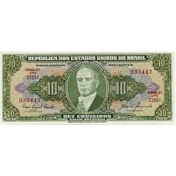 1960 - Brasil P159c  billete de 10 Cruceiros