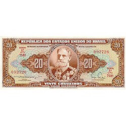 1961 - Brazil P160b 20 Cruceiros banknote