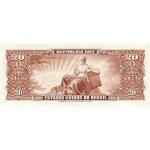 1961 - Brazil P160b 20 Cruceiros banknote